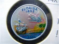 2004 Florida Colorized Washington State Quarter