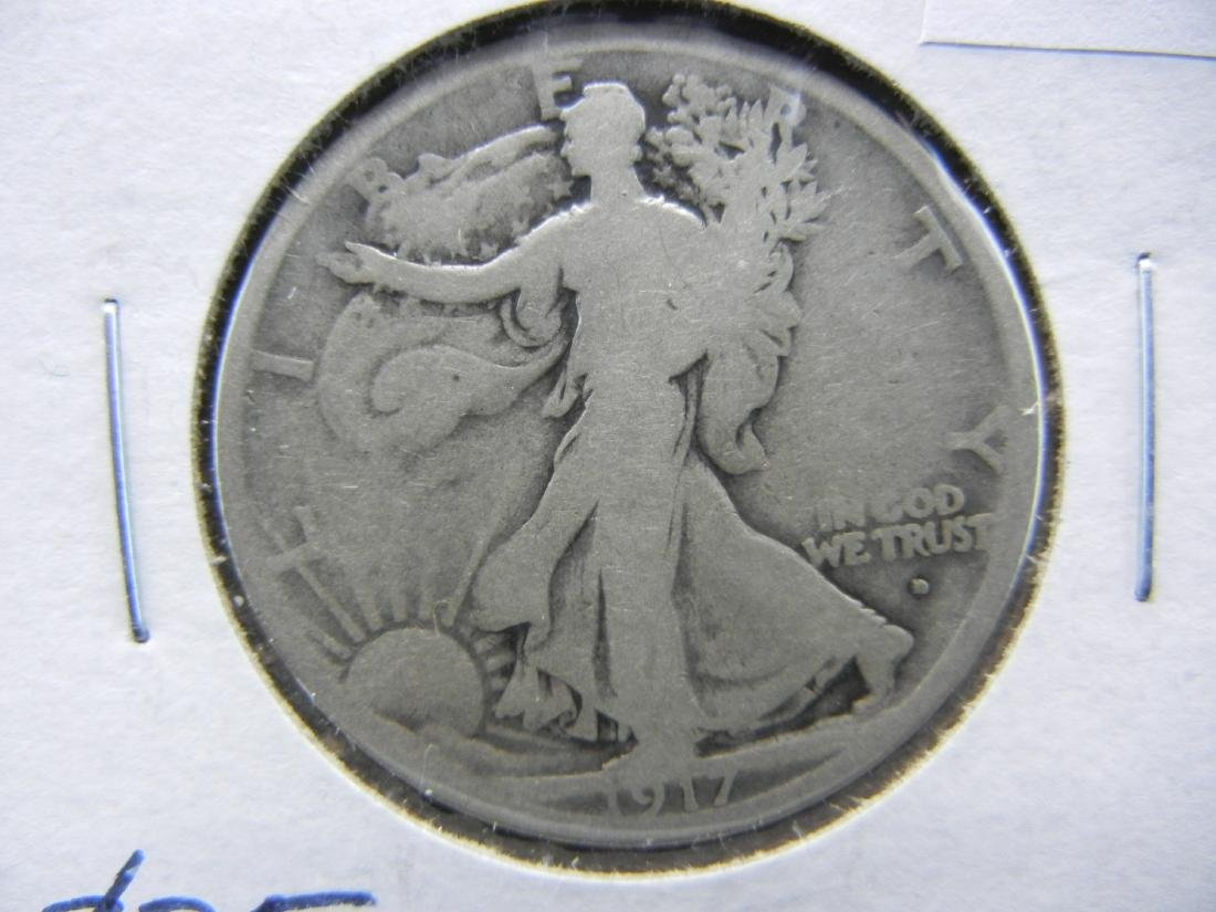 1917-D Walking Liberty Half Dollar