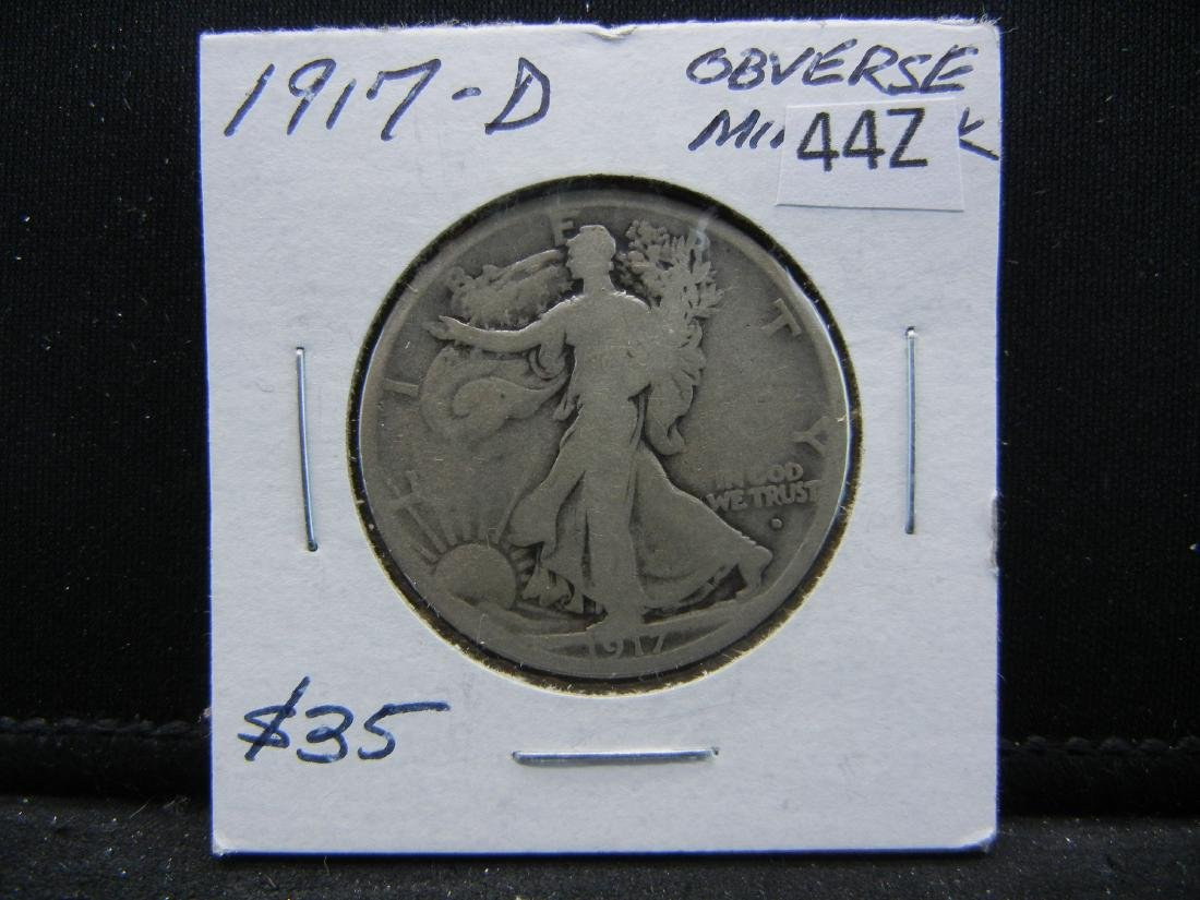 1917-D Walking Liberty Half Dollar - 3