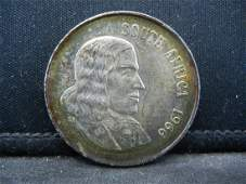 1966 South Africa 1 Rand 80 Silver Uncirculated Coin