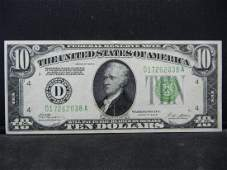 1928B 10 Federal Reserve Note Nice Crisp Note