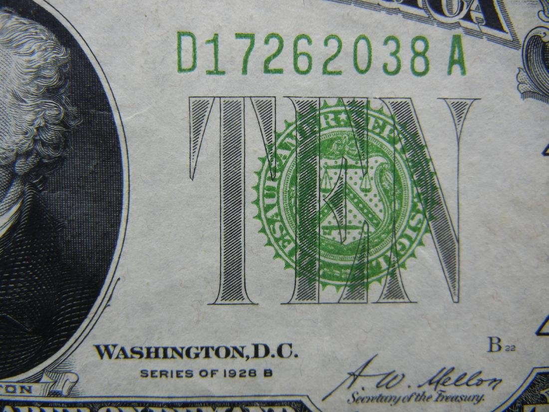 1928-B $10 Federal Reserve Note, Nice Crisp Note. - 2