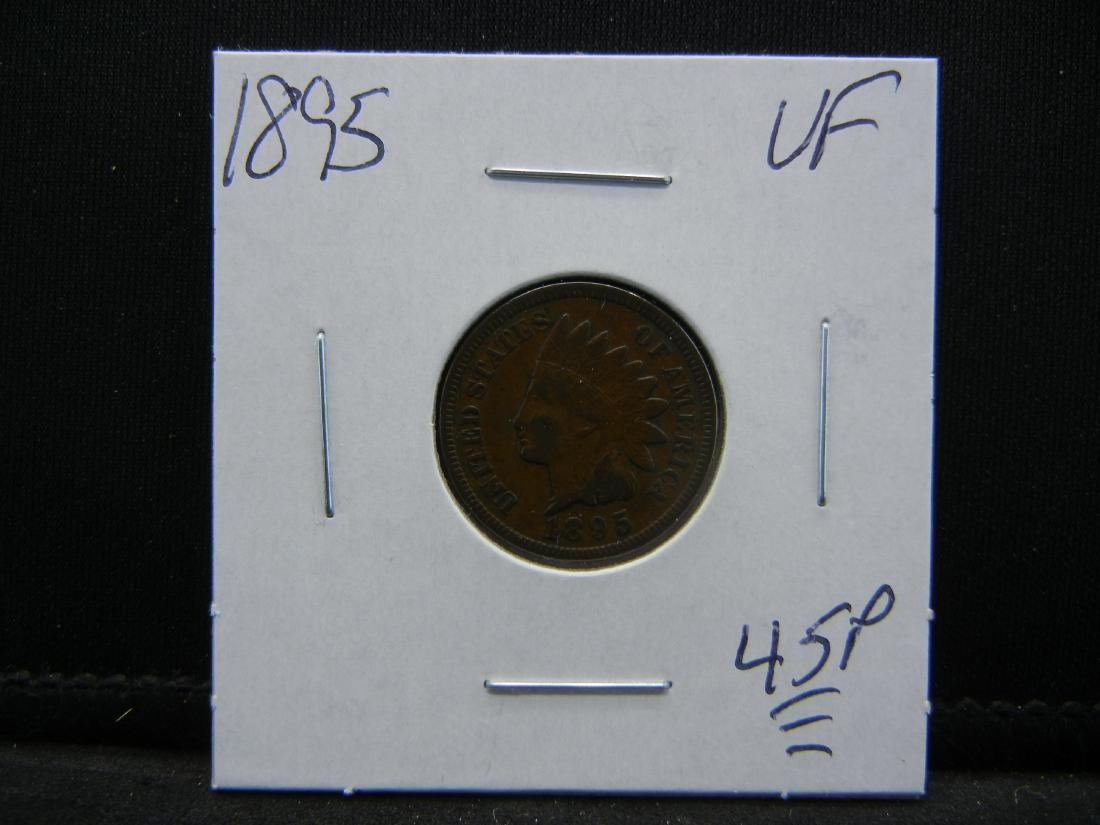1895 Indian Cent Very Fine - 3