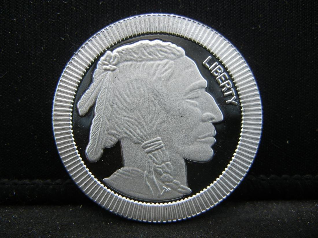 1 Ounce .999 Fine Silver Buffalo Round