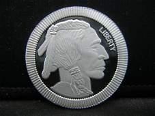 1 Ounce 999 Fine Silver Buffalo Round