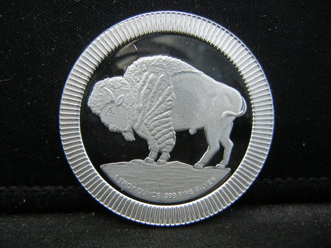 1 Ounce .999 Fine Silver Buffalo Round - 2