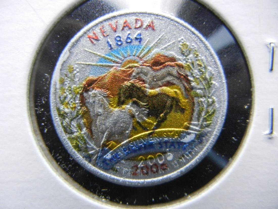 2008 Nevada Colorized Washington State Quarter