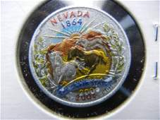 2008 Nevada Colorized Washington State Quarter
