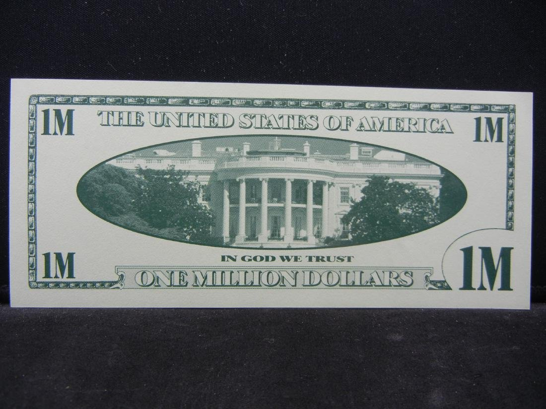 2001 One Million Dollars Patriotic Novelty Note. - 3