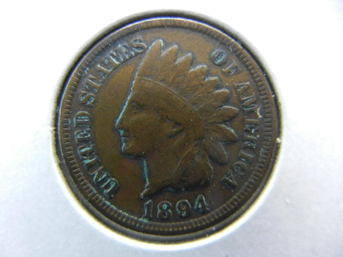 1894 Indian Cent Very Fine Better Date