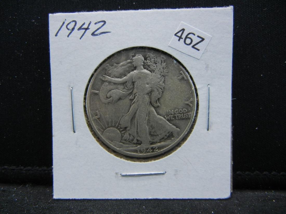 1942 Walking Liberty Half Dollar - 2