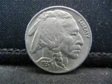 1937 Buffalo Nickel Bold Full Horn Almost
