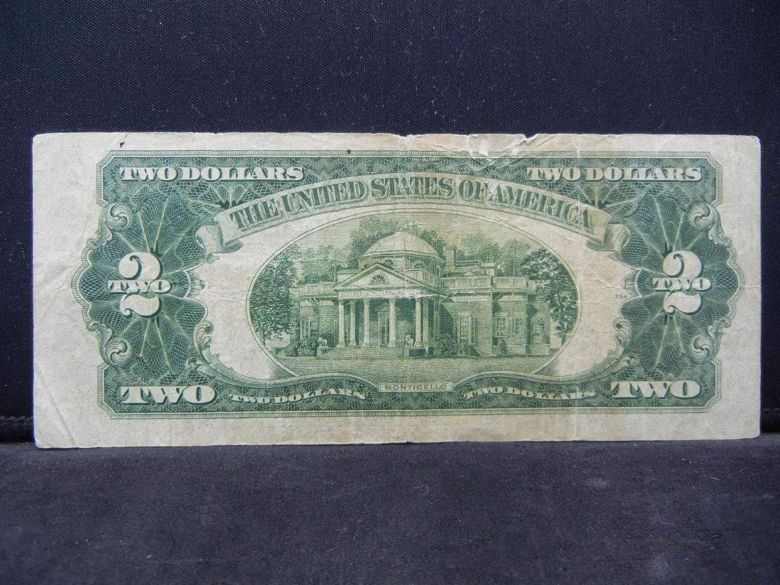1928-G $2 Red Seal United States Note.  Serial # - 3