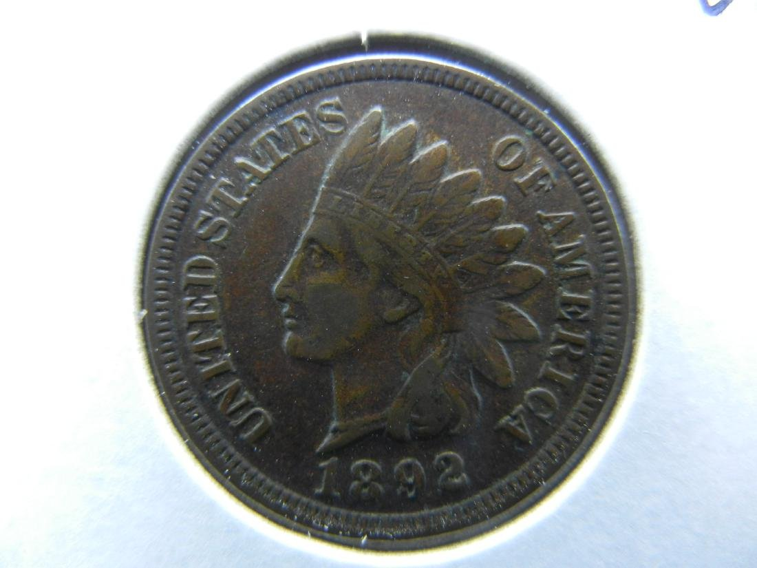 1892 Indian Cent Choice Very Fine