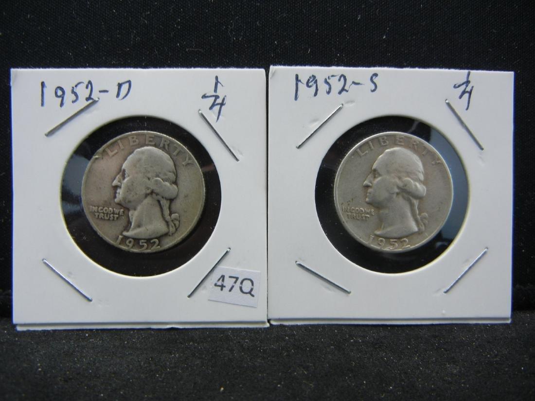 1952-D, S Washington Quarters