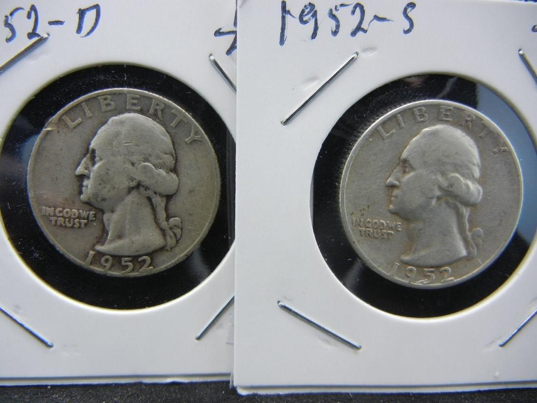 1952-D, S Washington Quarters - 2