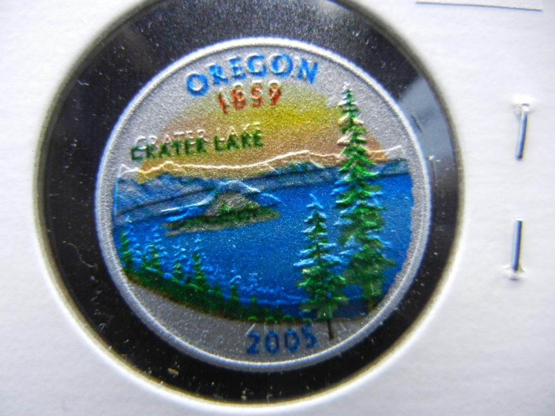 2005 Oregon Colorized Washington State Quarter