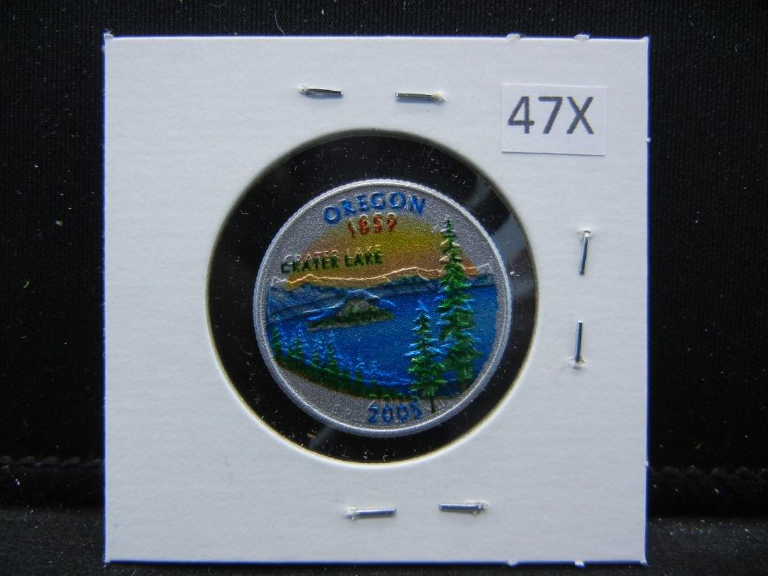 2005 Oregon Colorized Washington State Quarter - 3