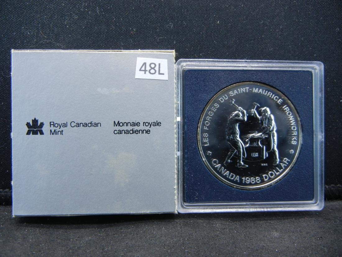 "1988 Canadian ""Ironworks Anniversary"" Uncirculated 50%"