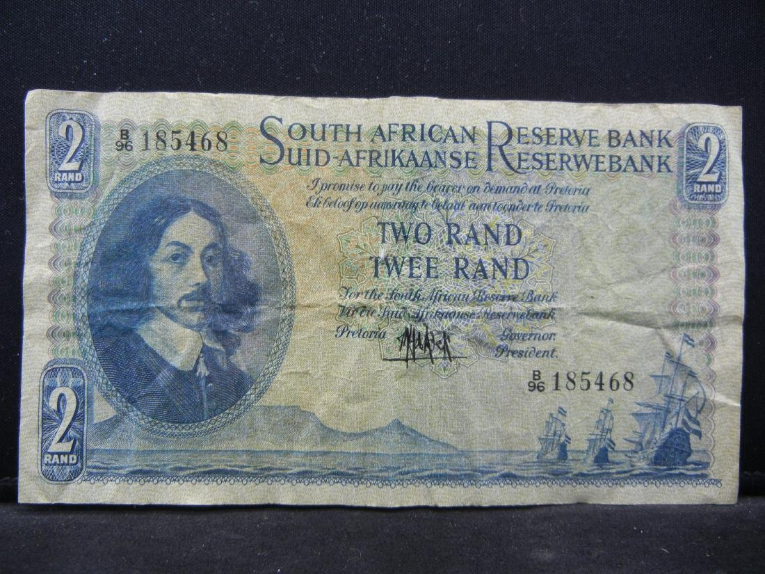 1961 Republic of South Africa 2 Rand Reserve Bank Note,
