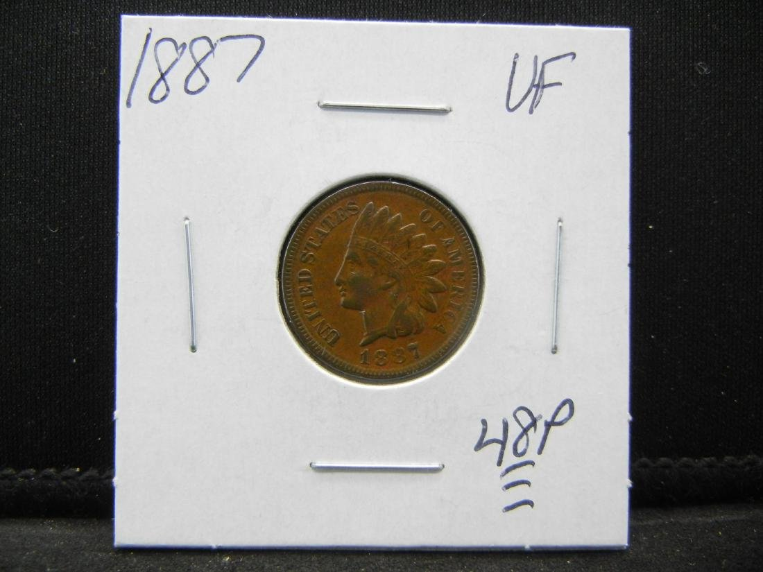 1887 Indian Cent Very Fine - 3