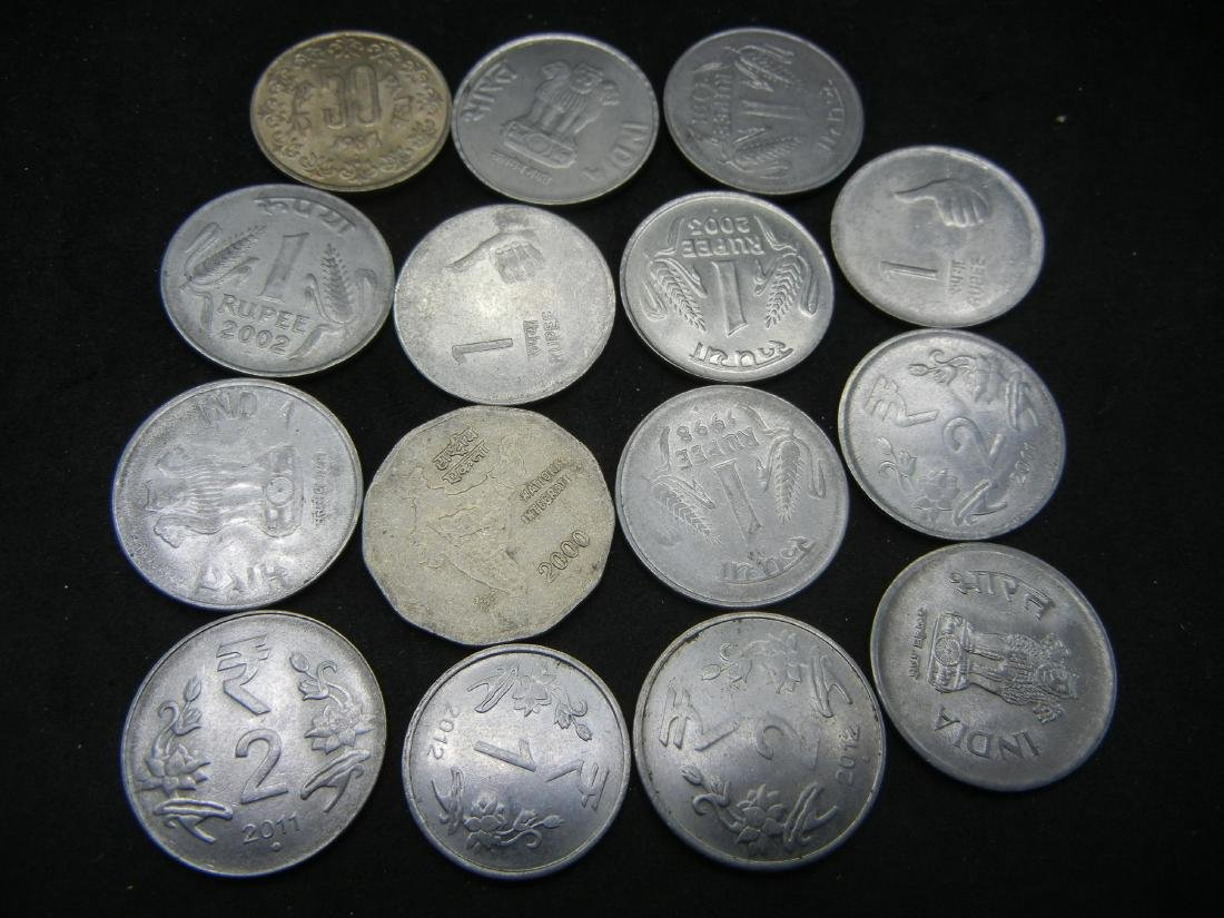 15 Indian Coins