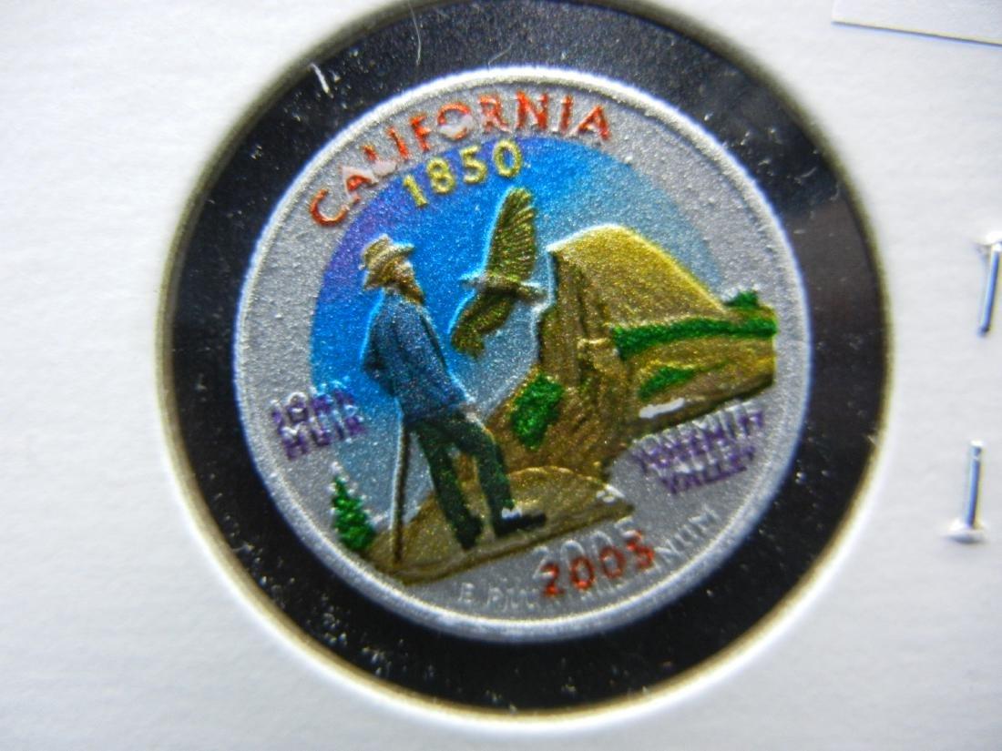 2005 California Colorized Washington State Quarter