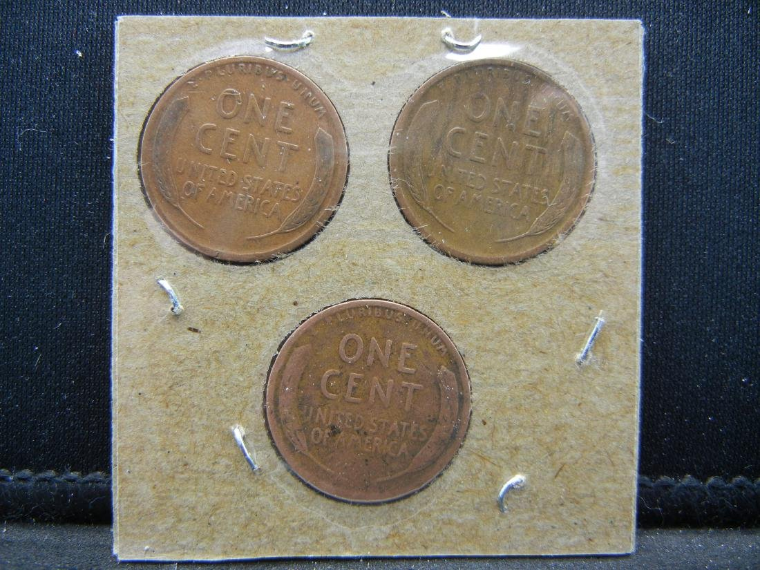1919-P, D, S Lincoln Wheat Cents - 2