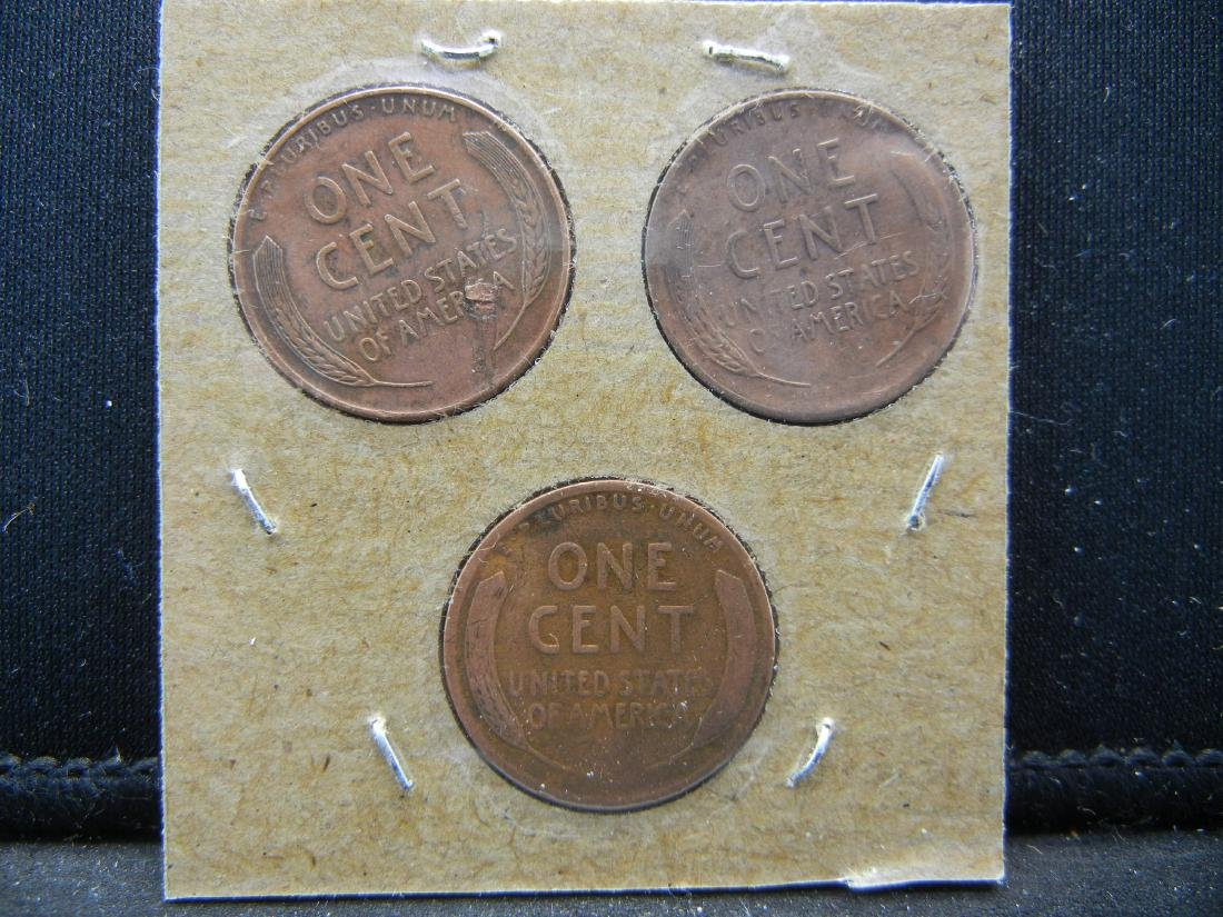 1918, 1946, 1946-D Lincoln Wheat Cents - 2