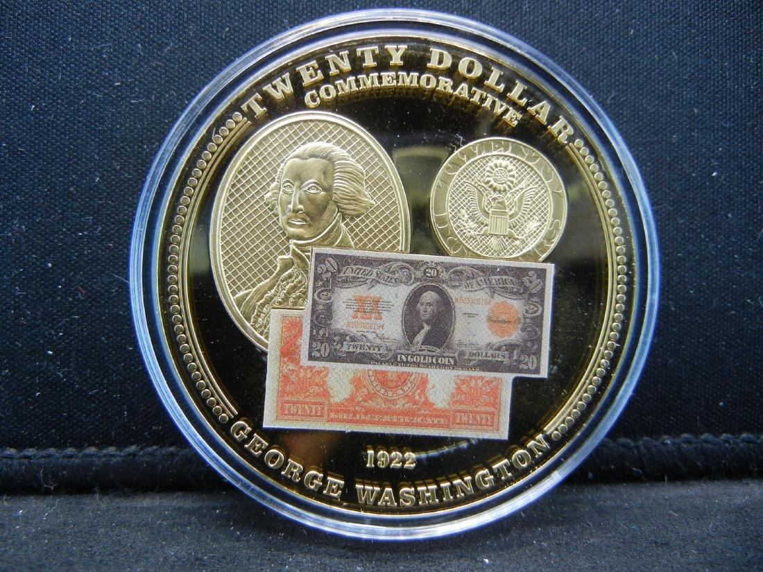 1922 $20 Gold Certificate Depicting George Washington - 2