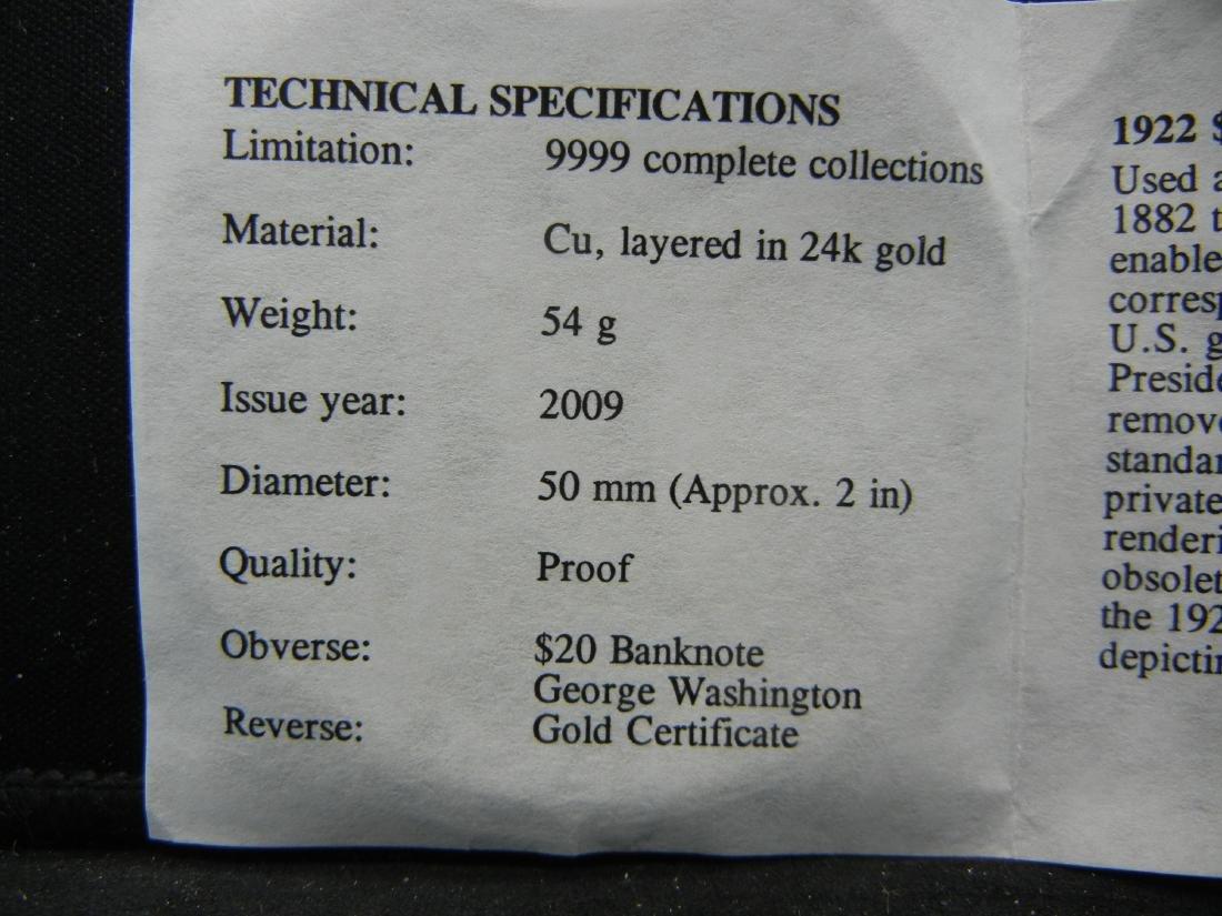 1922 $20 Gold Certificate Depicting George Washington - 4