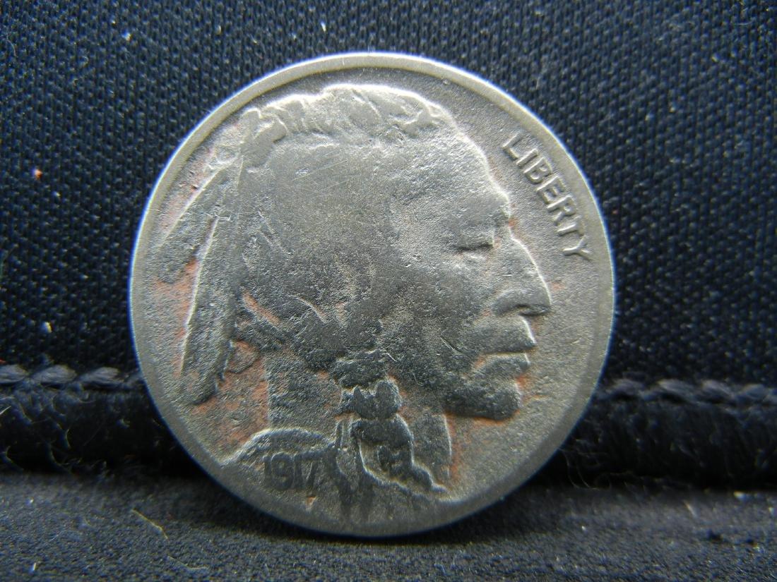 1917-D Buffalo Nickel.