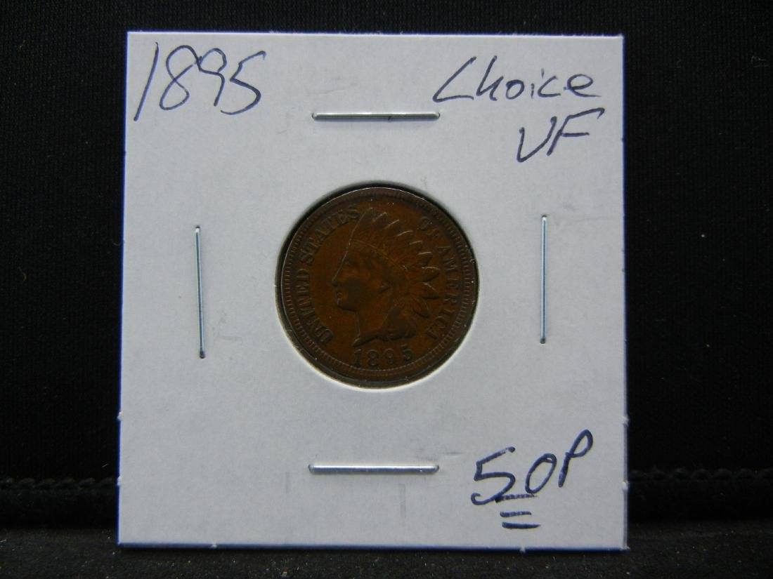 1895 Indian Cent Choice Very Fine - 3