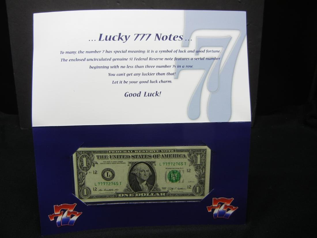 2009 Lucky 7's $1 US Bank Note