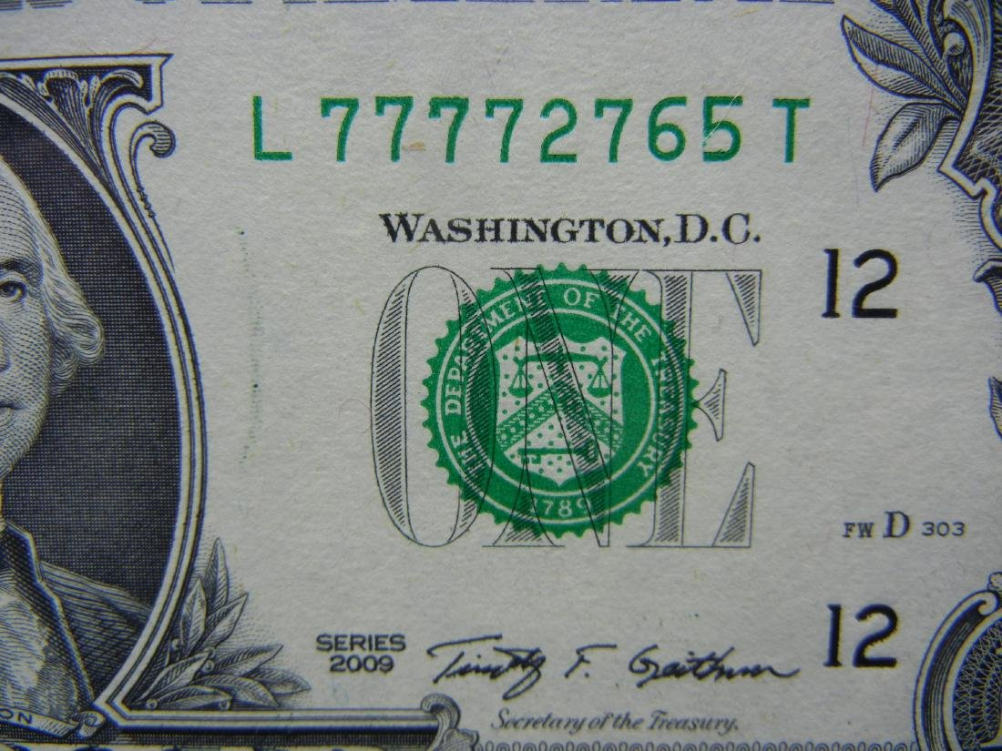 2009 Lucky 7's $1 US Bank Note - 3
