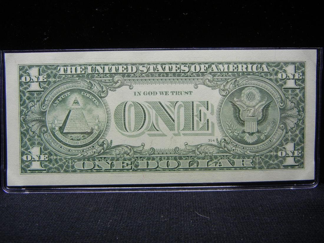 2009 Lucky 7's $1 US Bank Note - 4
