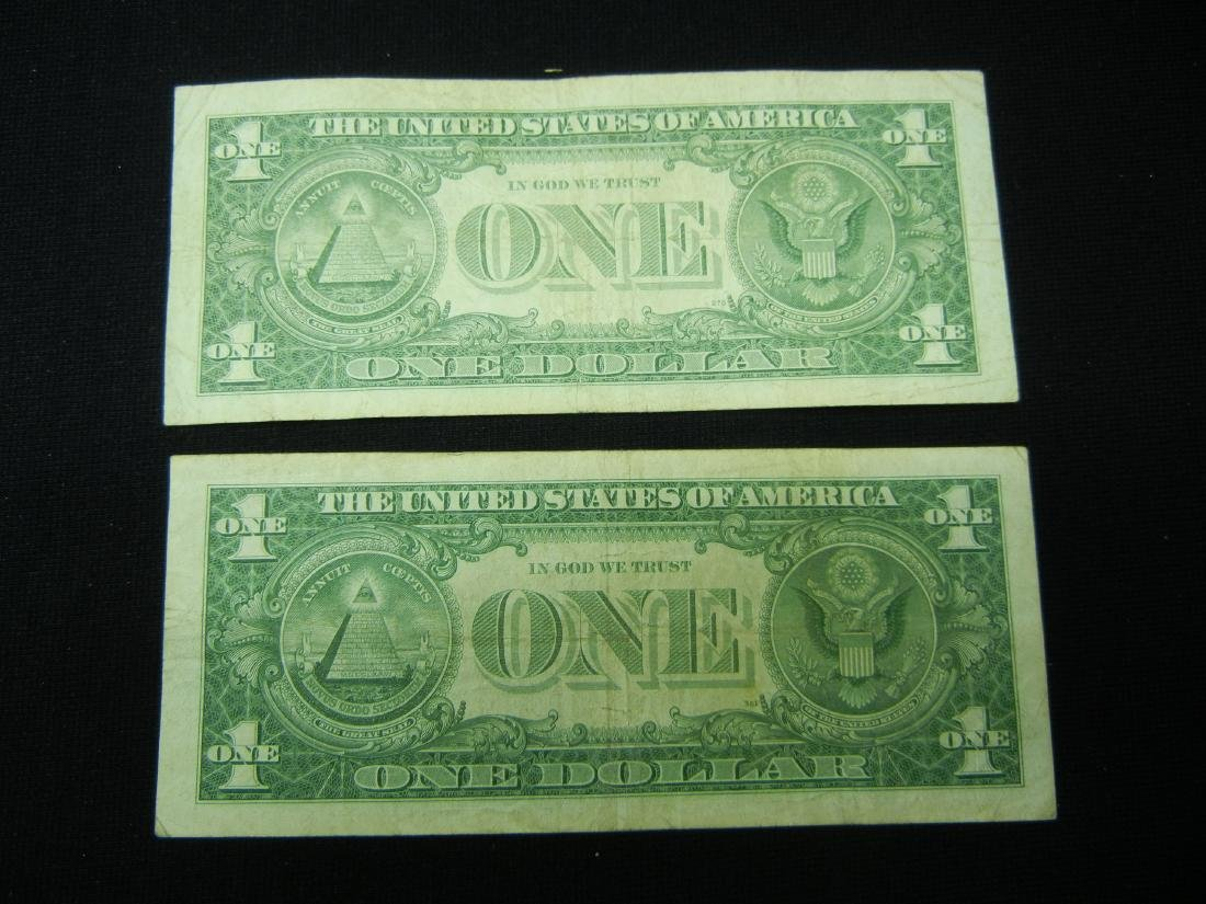 (2)1957 $1 US Silver Certificates - 5