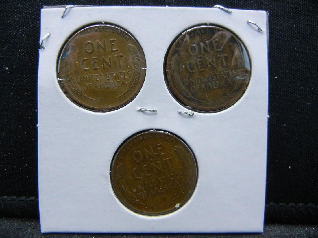 1947-P, D, S Lincoln Wheat Cents - 2