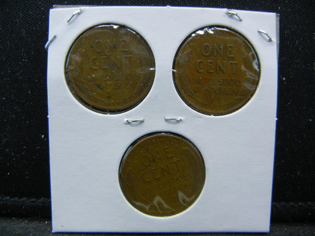 1944-P, D, S Lincoln Wheat Cents - 2