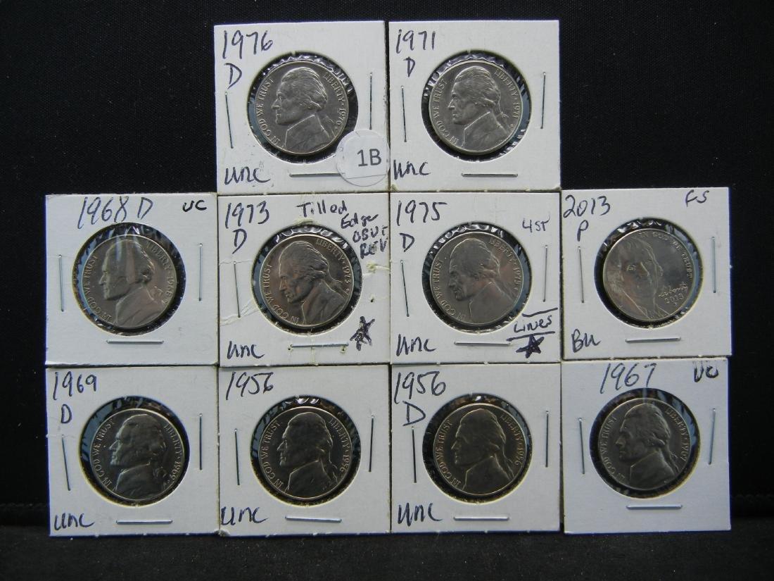 10 High Grade Jefferson Nickels