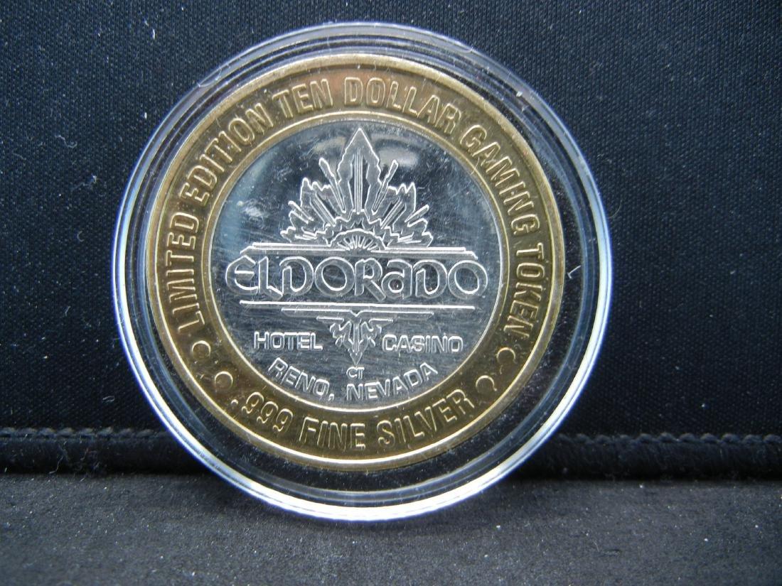 Limited Edition $10 Gaming Token El Dorado .999 Silver
