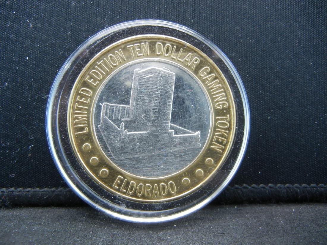 Limited Edition $10 Gaming Token El Dorado .999 Silver - 2