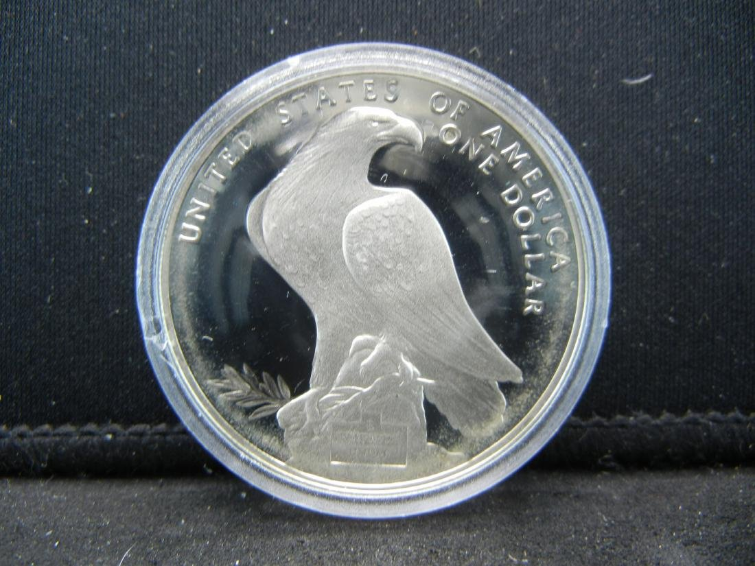 1984-S Los Angeles SILVER PROOF DOLLAR. Olympic. PR70.
