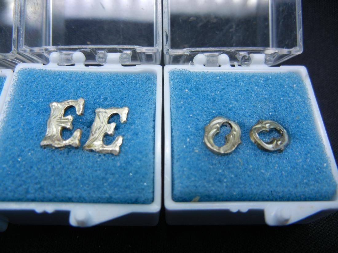4 Sets of Letter Earrings B, E, O & P - 3
