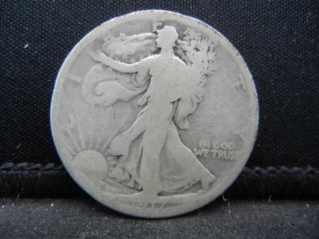 1917-D Walking Liberty Half Dollar