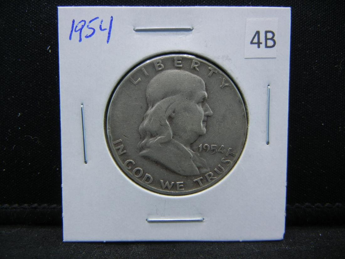 1954 Franklin Half Dollar - 3