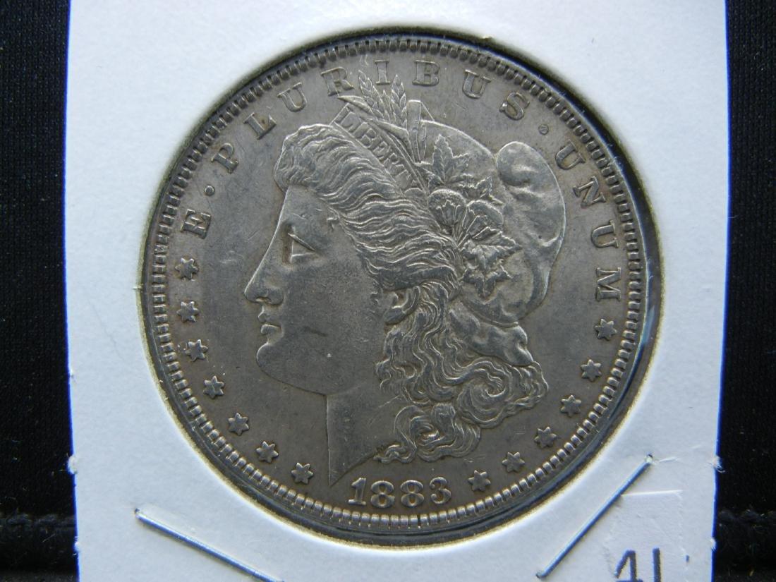1883 Morgan Silver Dollar. Nice UNC Full feathers!