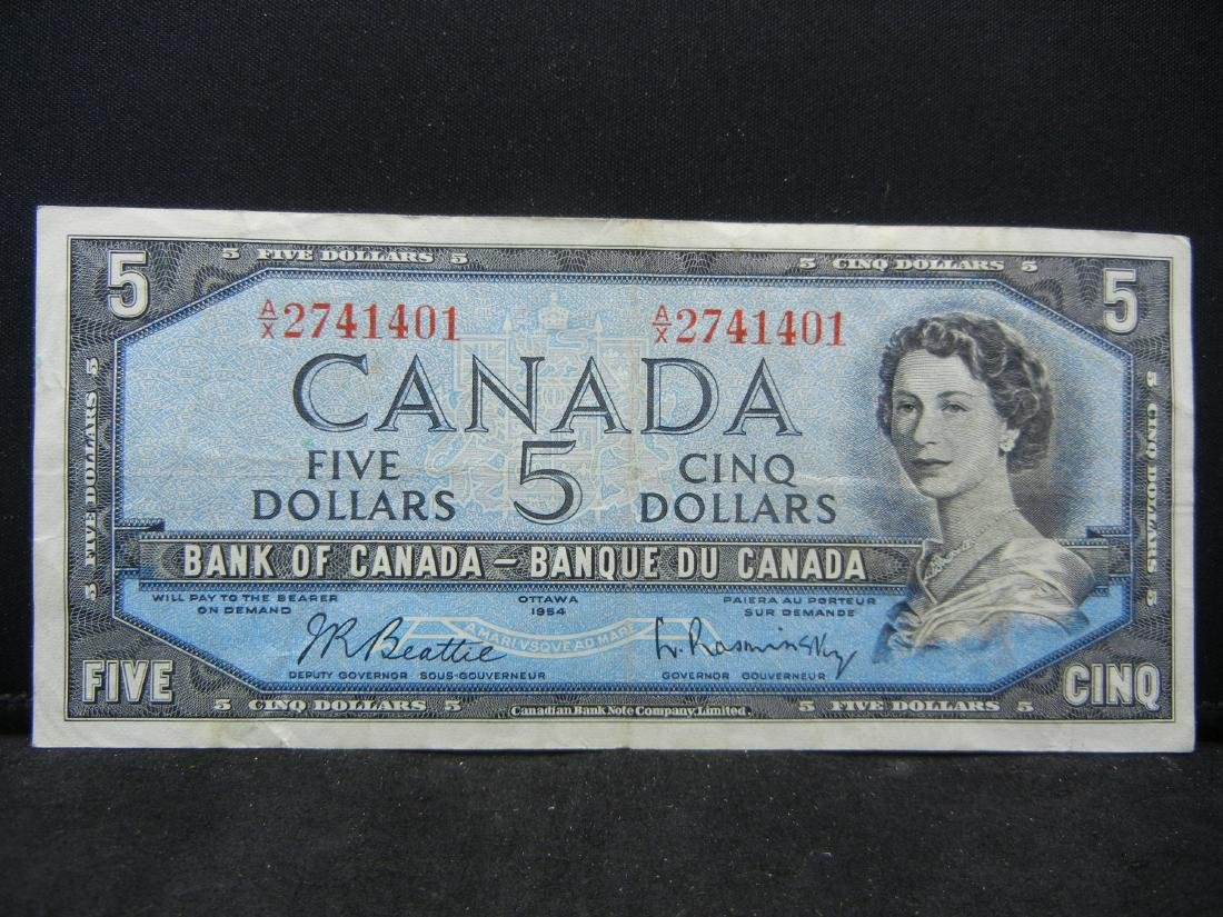 1954 Canada $5. AU.