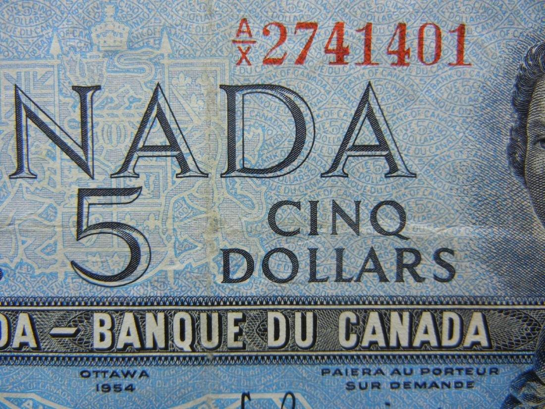 1954 Canada $5. AU. - 2