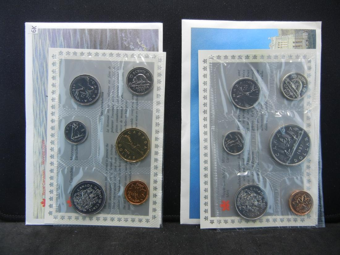 1987 1995 Royal Canadian Mint Sets with all Original
